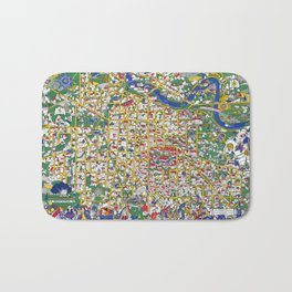 ANN ARBOR University map MICHIGAN dorm Bath Mat