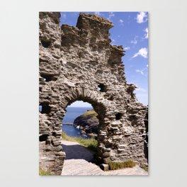 Tintagel Castle Gateway Canvas Print