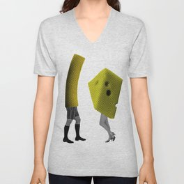 Because she's the cheese and I'm the macaroni Unisex V-Neck