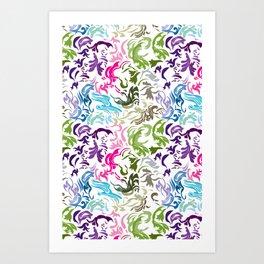 pattern_colors_white Art Print