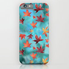 Dead Leaves over Cyan Slim Case iPhone 6s