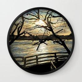 Charles River Esplanade 2 Wall Clock