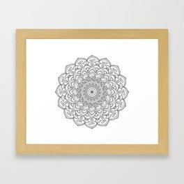 Mandala beach and white Framed Art Print