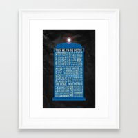 doctor Framed Art Prints featuring Doctor Who  by Luke Eckstein
