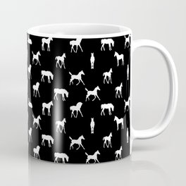 Foals All Over Pattern White Coffee Mug