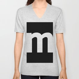 letter M (White & Black) Unisex V-Neck