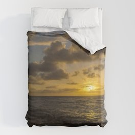 Golden Sunrise by Teresa Thompson Duvet Cover