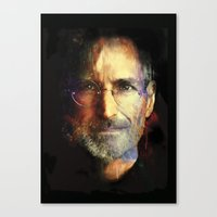 steve jobs Canvas Prints featuring Steve Jobs by turksworks