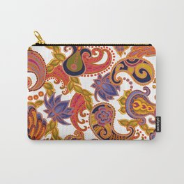 Paisley of '71 - orange Carry-All Pouch