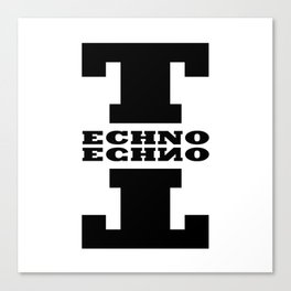 Techno Anagram Canvas Print