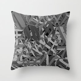 black and white squeezed Throw Pillow