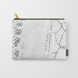 White Snake Skin Carry-All Pouch