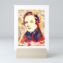 Robert Schumann Pop Art Mini Art Print