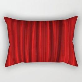 Red Theater Curtain Rectangular Pillow