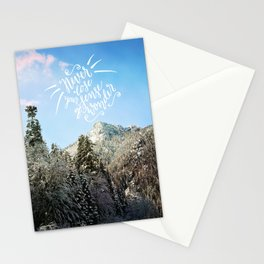 Never lose your sense of wonder-mountains Stationery Cards