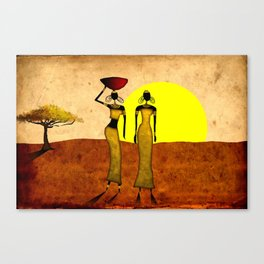 Africa retro vintage style design illustration Canvas Print