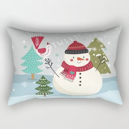 The Sweet Song Of Winter Friends Rectangular Pillow