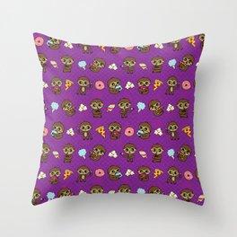 Snacking Sloths Throw Pillow