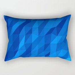 Blue Polygon v1 Rectangular Pillow