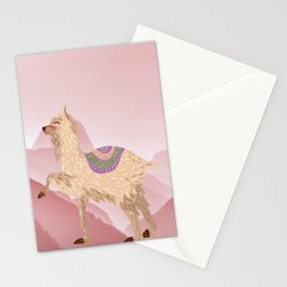Llama Land Sunset Stationery Cards