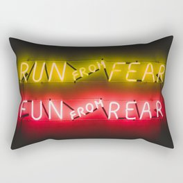 Run From Fear - Funny Sign Rectangular Pillow