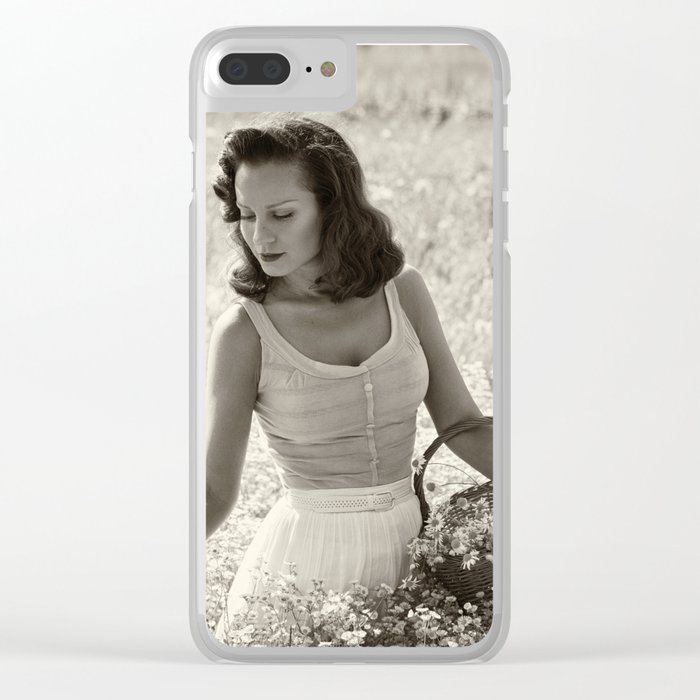 Picking Wildflowers Clear iPhone Case