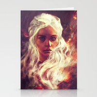 dragon ball z Stationery Cards featuring Fireheart by Alice X. Zhang