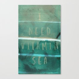 Vitamin sea typography Canvas Print