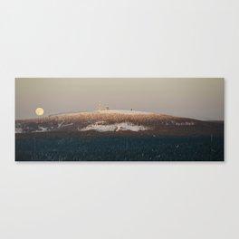 Brockenbahn at full moon Canvas Print
