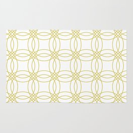 Simply Vintage Link Mod Yellow on White Rug