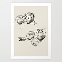 Hibougent - arrow Art Print