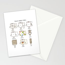 toilet paper types Stationery Cards