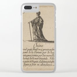 Game of Geography - China (Stefano della Bella, 1644) Clear iPhone Case
