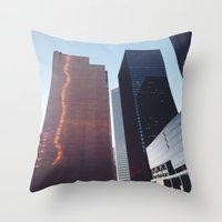 houston Throw Pillows featuring Houston by Jorieanne