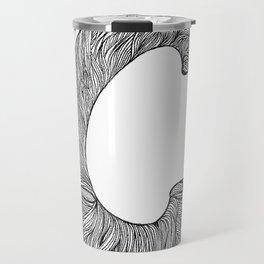 Hand Drawn Font C Travel Mug