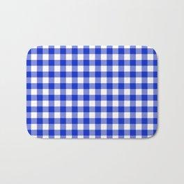 Plaid (blue/white) Bath Mat