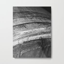 Barrels In Black & White Metal Print