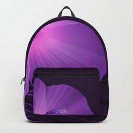 Ultraviolet Hibiscus Tropical Nature Print Backpack