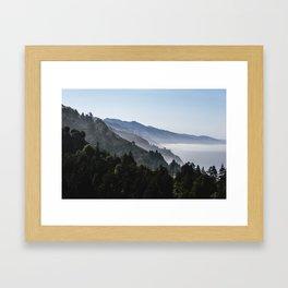 Blue Valley view Framed Art Print