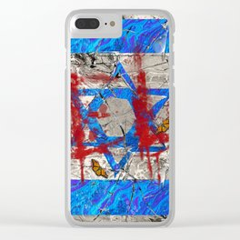 Halocaust never forget (Isreal Flag) Clear iPhone Case