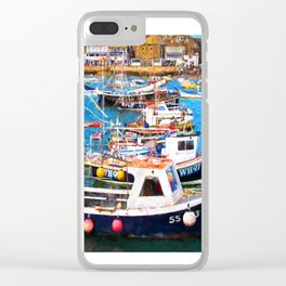 St Ives Harbour Clear iPhone Case