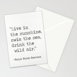 Ralph Waldo Emerson quote 1 Stationery Cards