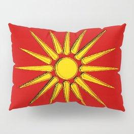 Macedonia Map with Macedonian Flag Pillow Sham