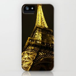 Eiffel Tower, Paris, City of Lights, Paris Photo, Nighttime in Paris, Eiffel Tower at Night iPhone Case