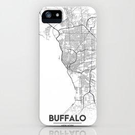 Minimal City Maps - Map Of Buffalo, New York, United States iPhone Case