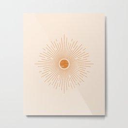 Sunburst Rays Metal Print