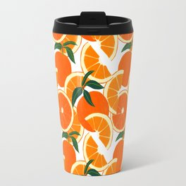 Orange Harvest - White Travel Mug