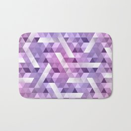 Puple Geo Dimension Bath Mat
