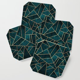 Deep Teal Stone Coaster