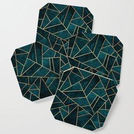 Deep Teal Stone Coaster